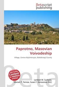 Paprotno, Masovian Voivodeship. Lambert M. Surhone