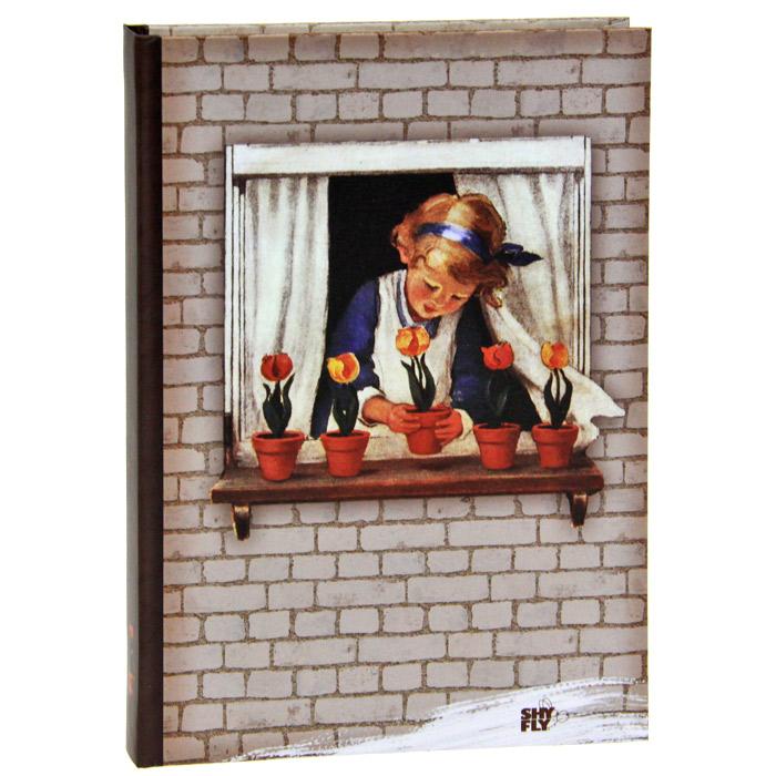 Девочка с тюльпанами. Блокнот для записей