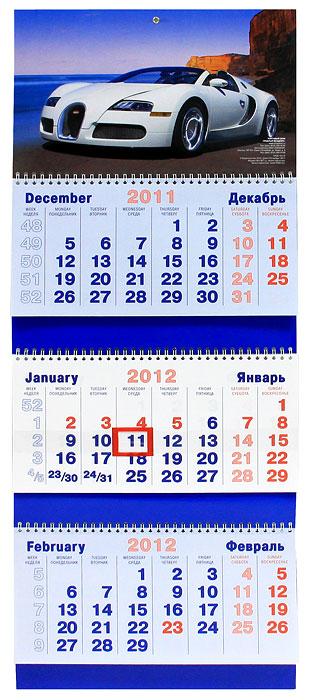 Календарь 2012 (на спирали). Автомобиль Bugatti
