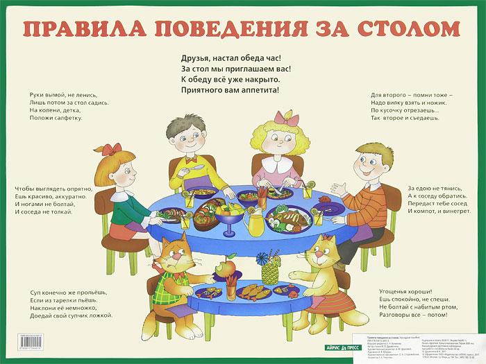 Правила поведения за столом. Наглядное пособие