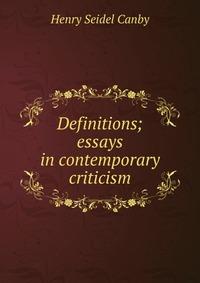 contemporary critical essays