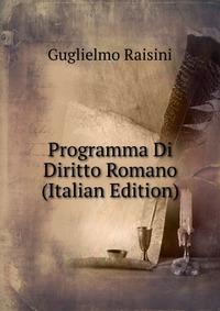 Programma Di Diritto Romano (Italian Edition)