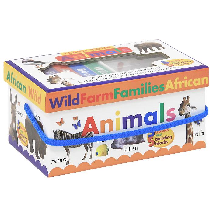 Learn your animals (комплект из 5 книг и 5 коробочек)