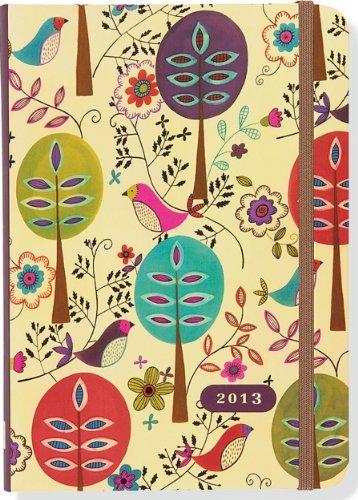 2013 Folk Art Birds Compact Engagement Calendar (16-month Weekly Planner)