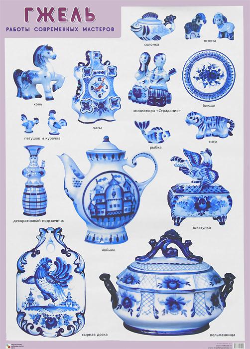 Гжель. Работы современных мастеров. Плакат ( 978-5-43150-192-0 )