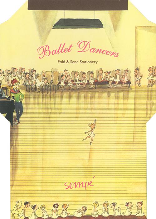 Sempe: Ballet Dancers Fold & Send Stationary