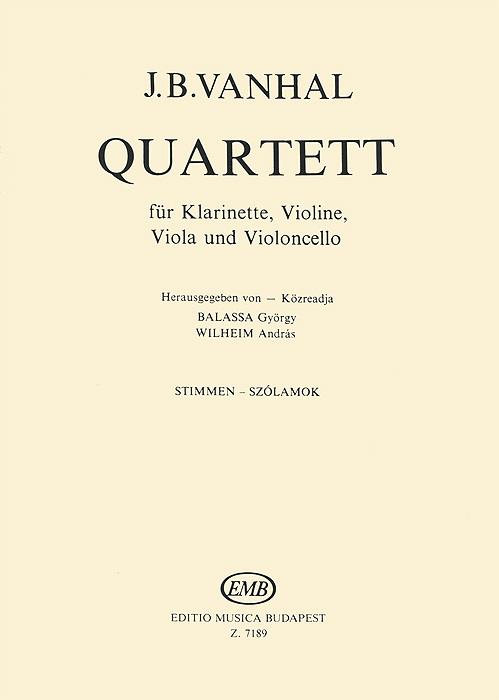 J. B. Vanhal: Quartett fur Klarinette, Violine, Viola und Violoncello