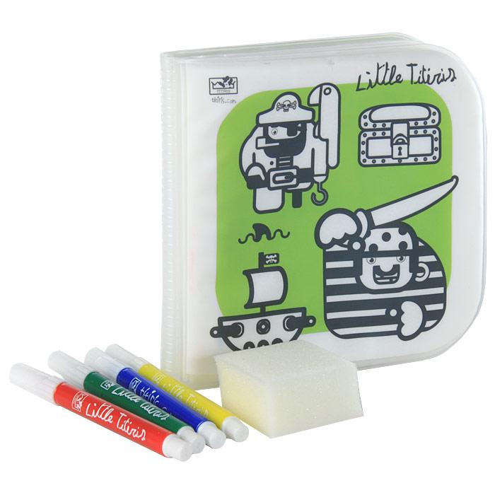 Little Titiris. Книжка-игрушка12296407Предлагаем вашему вниманию книжку-игрушку Little Titiris для самых маленьких. Пластиковая книга с четырьмя разноцветными маркерами и губкой вложена в полиэтиленовый пакет с ручкой. Это многоразовая раскраска с жирными контурами и крупными картинками, которые можно раскрашивать снова и снова. Картинки легко удаляются при помощи губки, смоченной водой. Ее можно взять с собой в отпуск, на пляж, в бассейн, на пикник или прогулку, и не беспокоиться о том, чем занять малыша! Для детей от 3 лет.