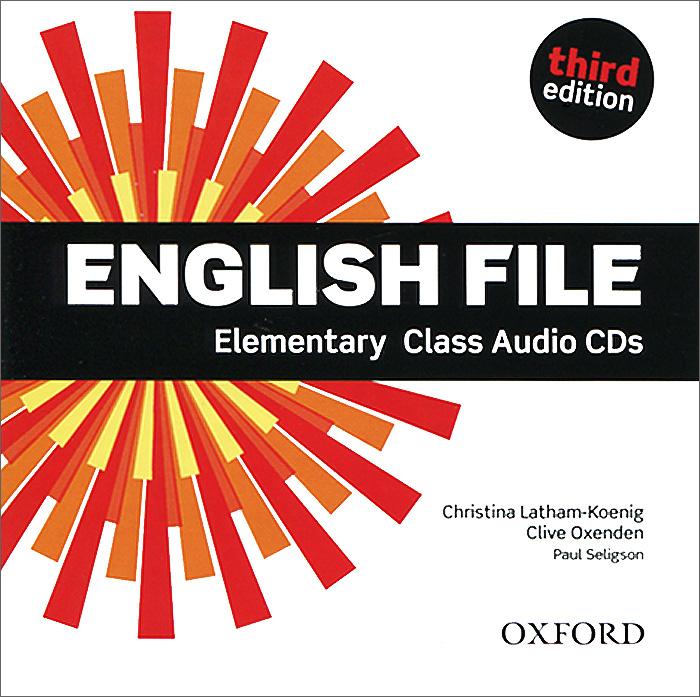 English File: Elementary: Class Audio CDs (аудиокурс на 4 CD)