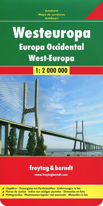 Europe West: Autokarte.
