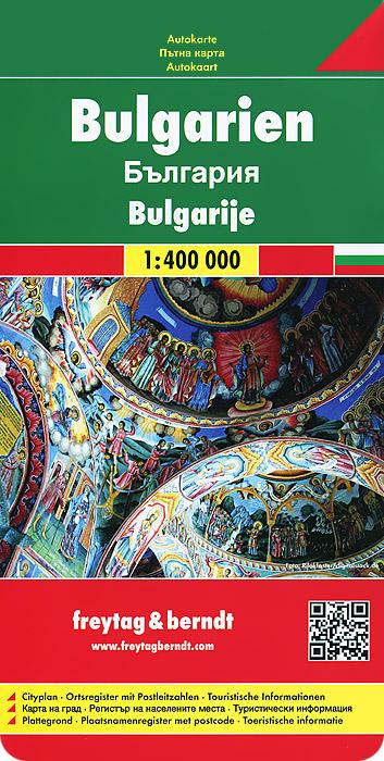 Bulgarien: Autokarte.