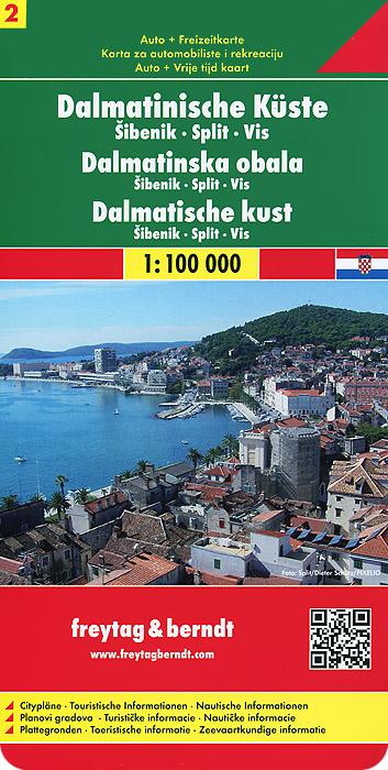 Dalmatian Coast: Road Map.