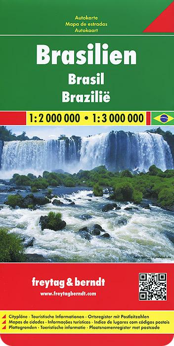 Brasilien: Autokarte.