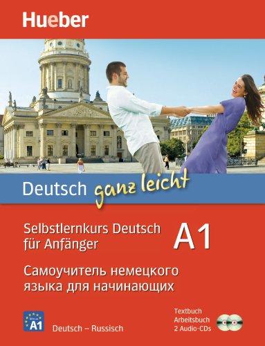 Deutsch ganz leicht A1 (russische Ausgabe), Textbuch, Arbeitsbuch u. 2 Audio-CDs