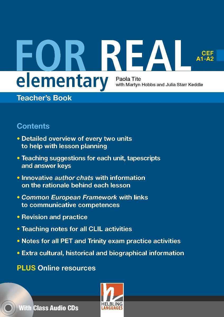 For Real Elementary Teacher's Book + 3 Class CDs + Interactive Book DVD-ROM
