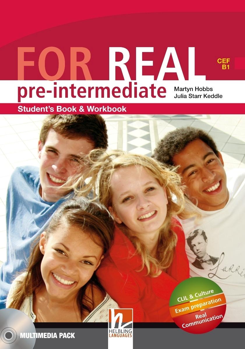 For Real Pre-intermediate Student's Pack STARTER+SB/WB + LINKS + CD-ROM + LINKS Audio CD