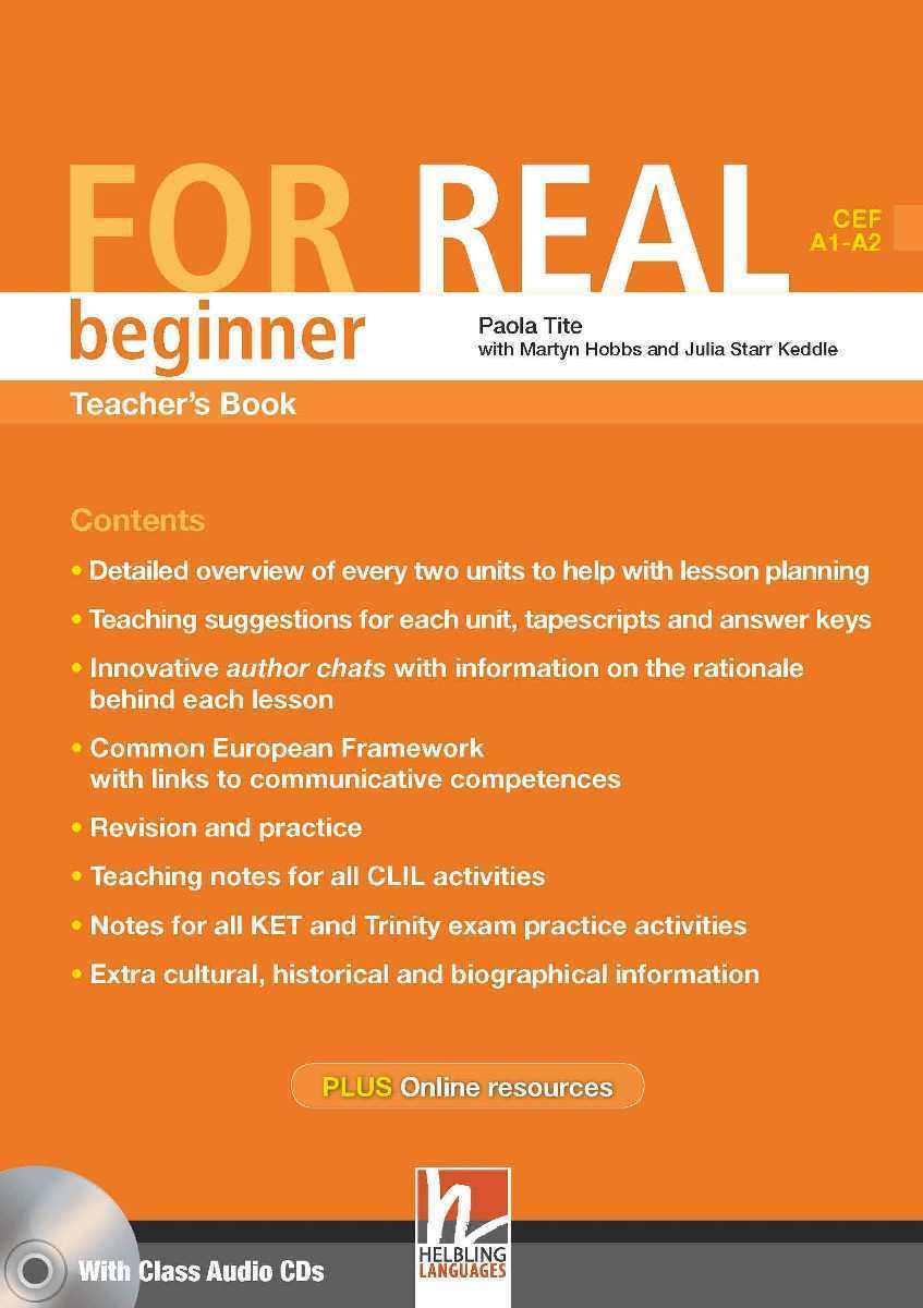 For Real Beginner Teacher's Book + 3 Class CDs + Interactive Book DVD-ROM