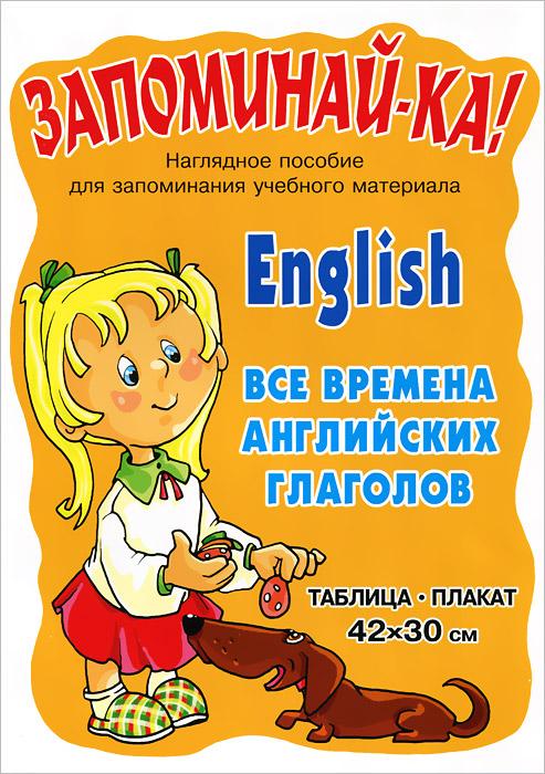 English / Английский. Все времена английских глаголов. Плакат