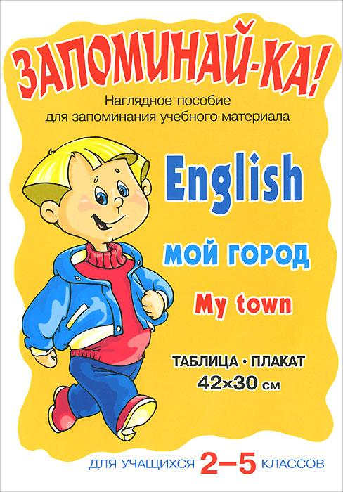 English. My Town / Мой город. 2-5 классы. Плакат