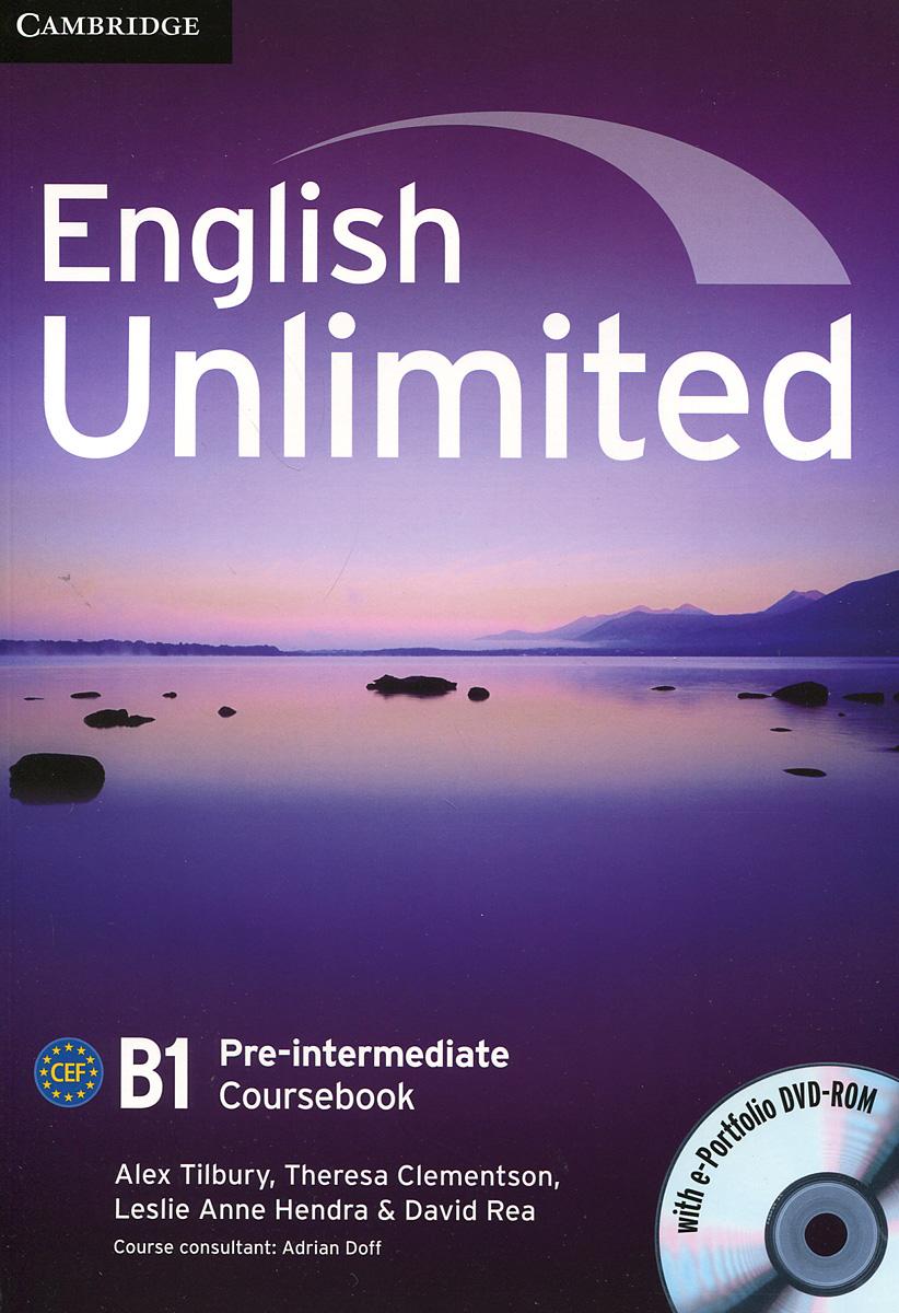 English Unlimited: Pre-intermediate B1 : Coursebook (+ DVD-ROM)