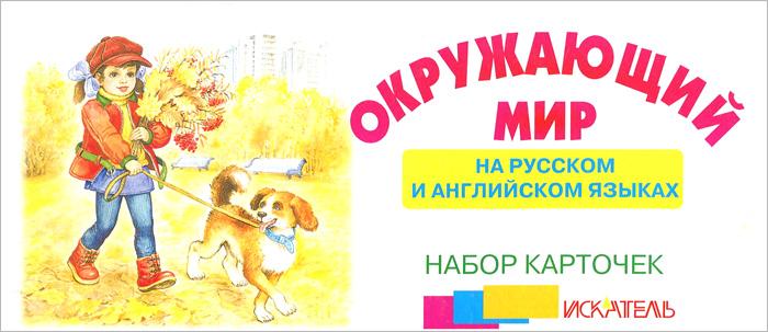 Окружающий мир на русском и английском языках (набор из 30 карточек)