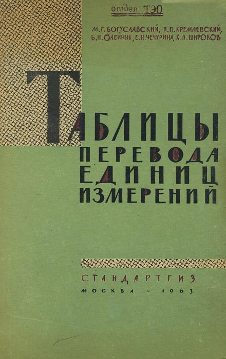 Таблицы перевода единиц измерений