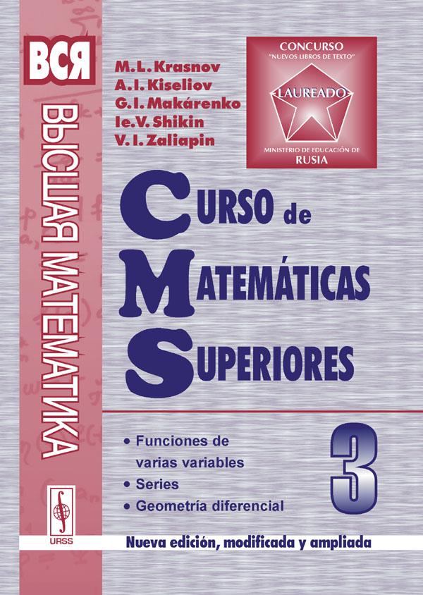 Curso de matematicas superiors: Tomo 3: Funciones de varias variables: Series: Geometria diferencial
