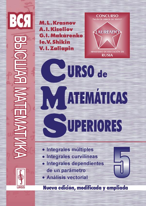 Curso de matematicas superiores: Tomo 5