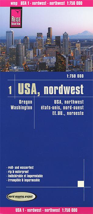 USA: Northwest. Карта