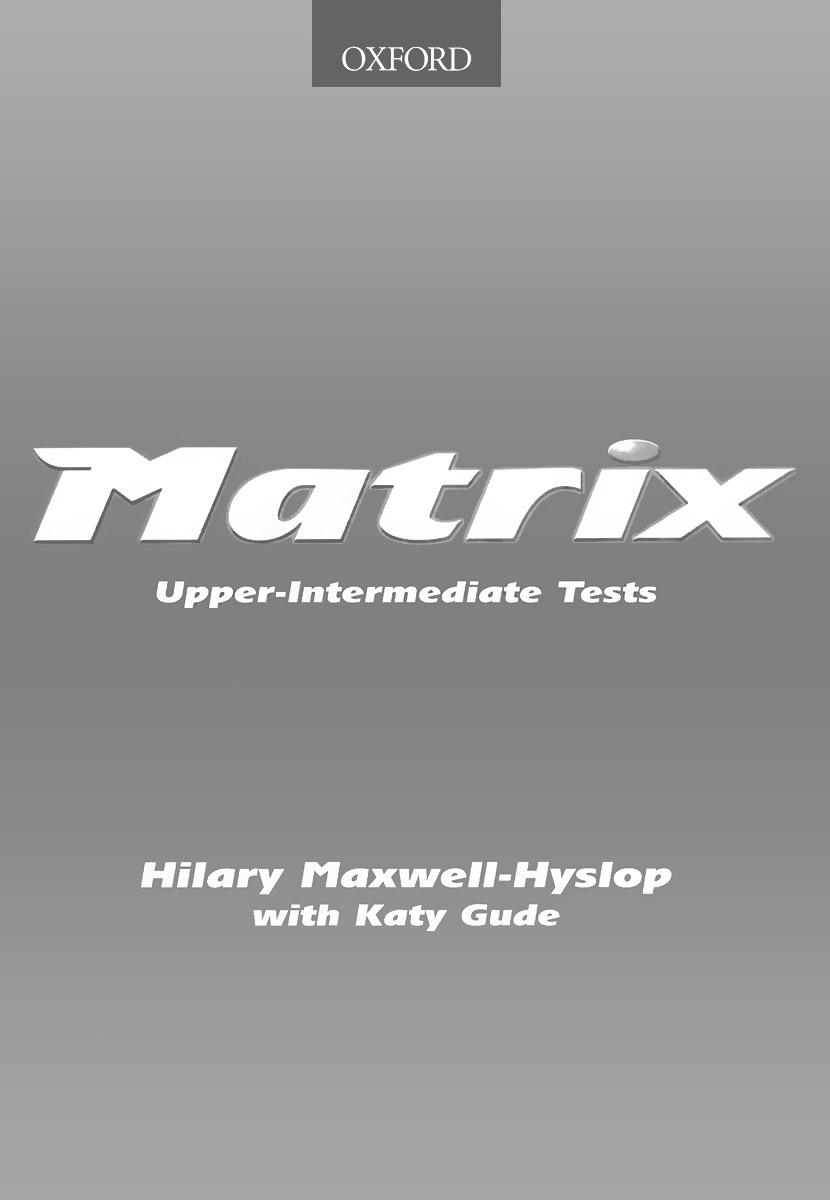 Matrix: Upper-intermediate Tests