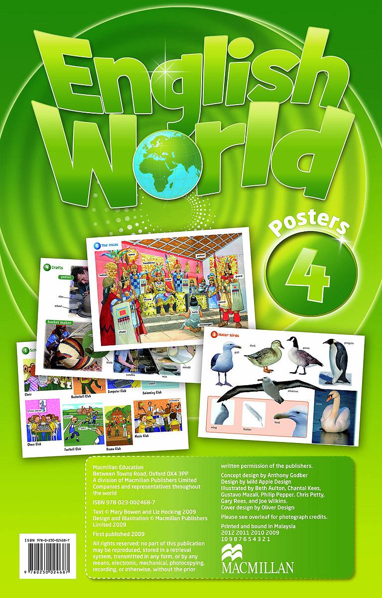 English World 4: Poster (комплект из 12 постеров)