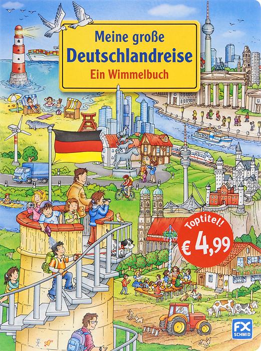 Meine grosse Deutschlandreise: Ein Wimmelbuch12296407Weisst du, wo der Michel steht? Kennst du das Marchenschloss Neuschwanstein? Hast du schon einmal eine Bootstour auf dem Rhein gemacht? Bei dieser wimmeligen Deutschlandreise gibt es uber hundert Sehenswurdigkeiten zu entdecken. In den kunterbunten Wimmelbildern sind viele bekannte, aber auch uberraschende Details versteckt. So wird das Anschauen immer wieder zu einem grossenVergnugen fur die ganze Familie!