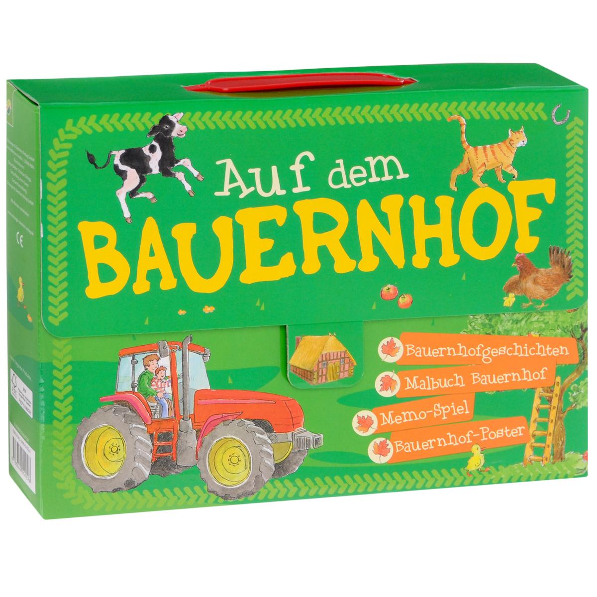 Auf dem Bauernhof Koffer (комплект из 2 книг + набор карточек, плакат)