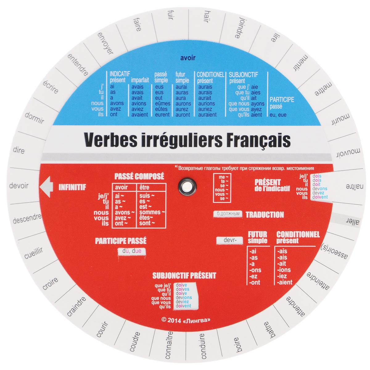 Verbes irreguliers Francais / Французские неправильные глаголы. Таблица ( 978-5-98265-026-9 )