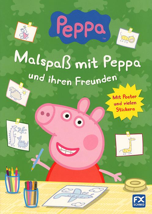 Peppa: Malspass mit Peppa und ihren Freunden: Mit Poster und vielen Stickern