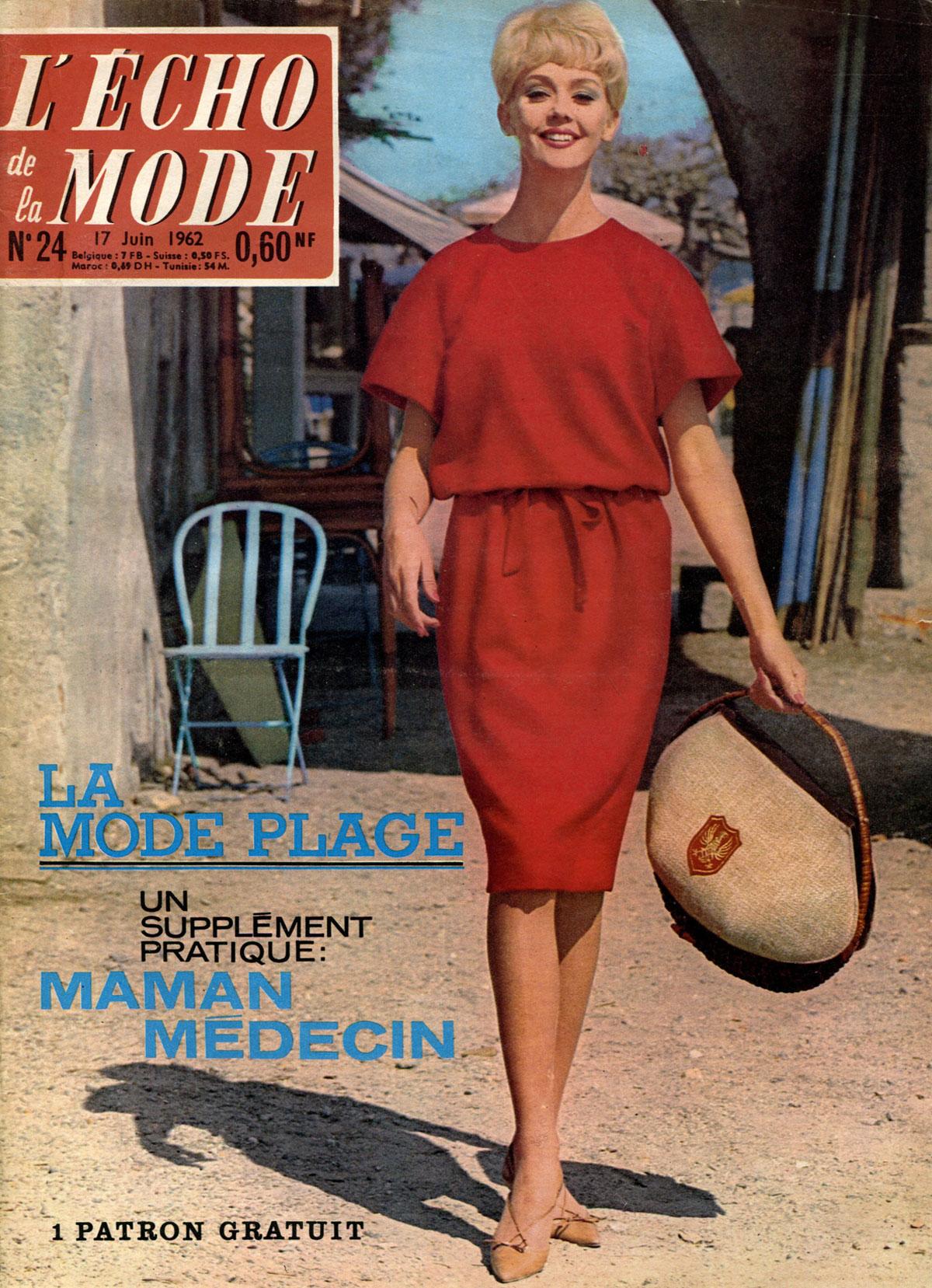 Echo de la Mode, №24, juin 1962