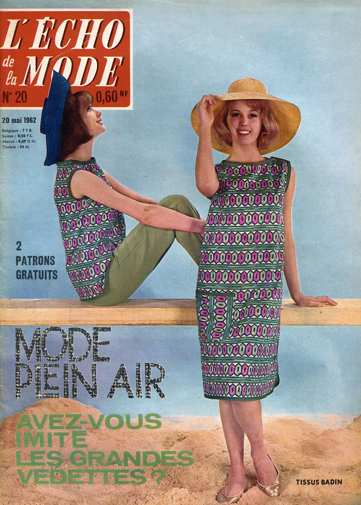 Echo de la mode, №20, mai, 1962