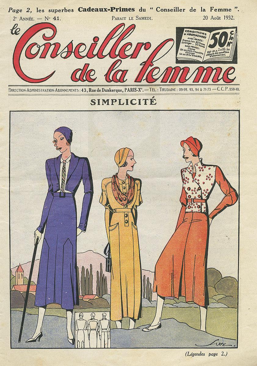 Le conseiiller de la femme, №41, aout 1932