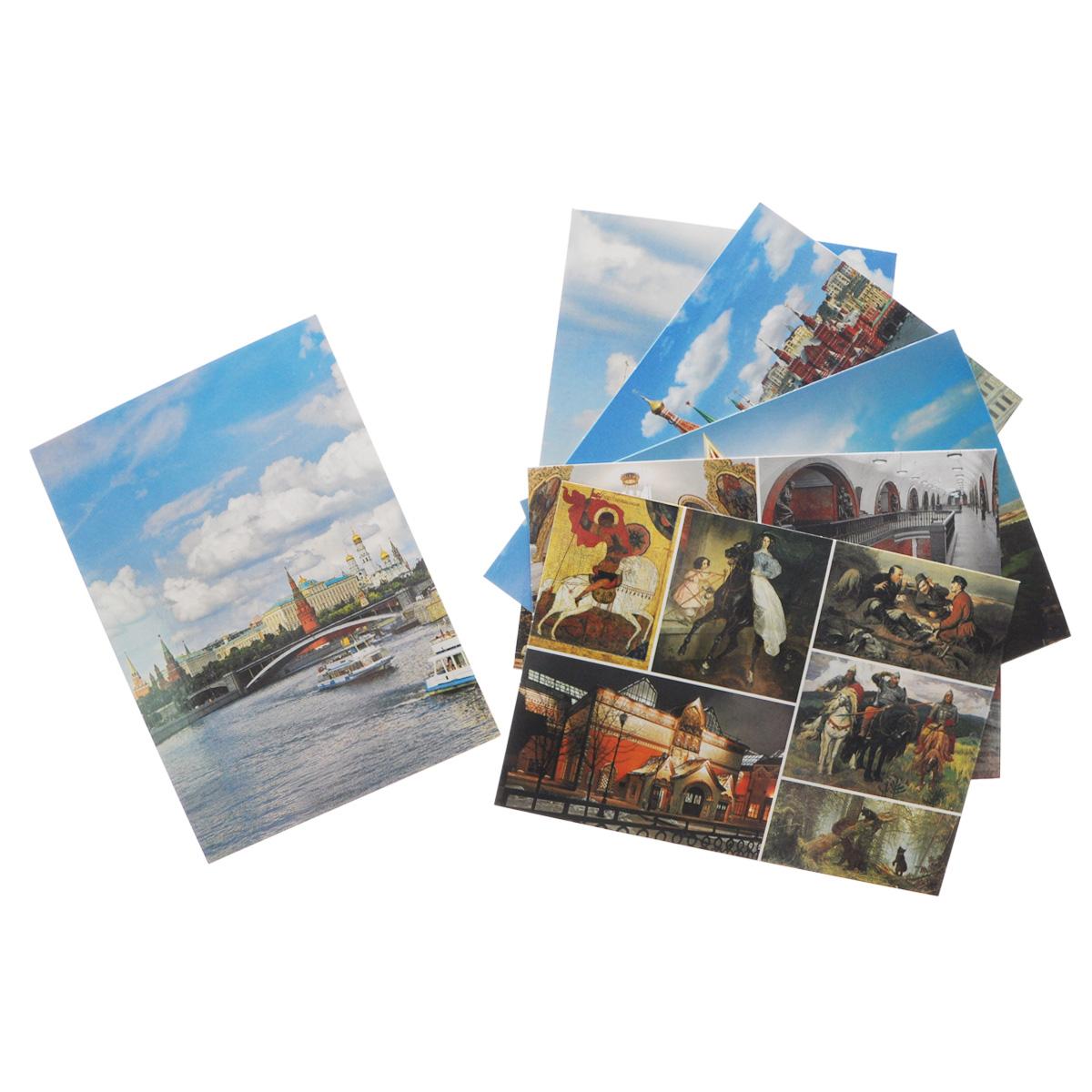 Москва (набор из 16 карточек)