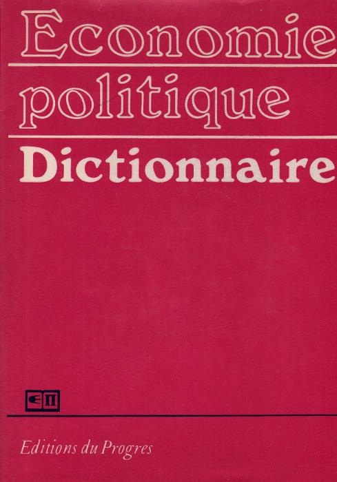 Economie politique dictionnaire