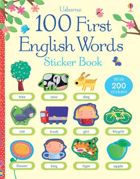 100 First English Words Sticker Book