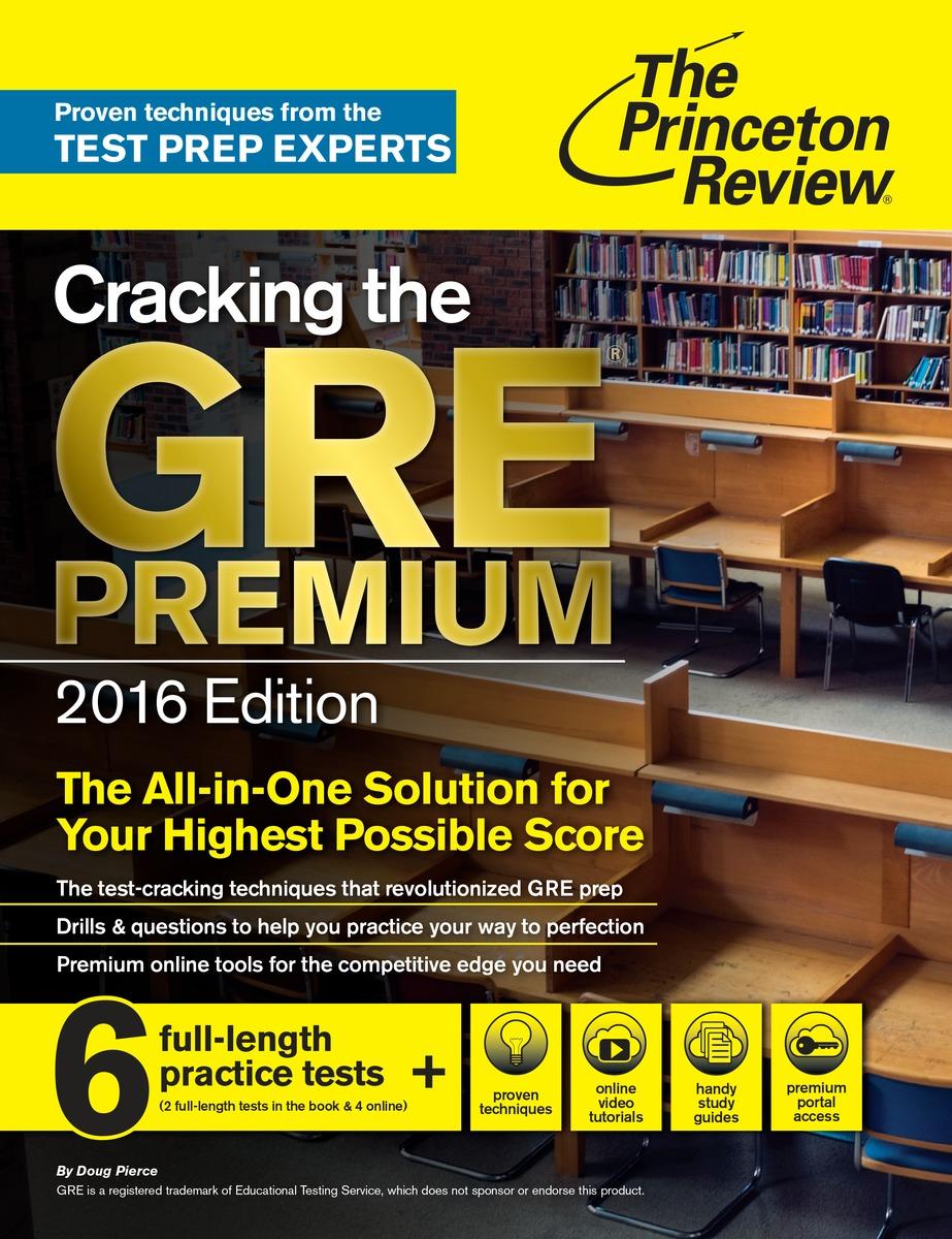 Cracking the GRE Premium 2016