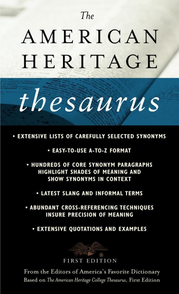 The American Heritage Thesaurus