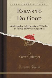cotton mather public domain essays to do good