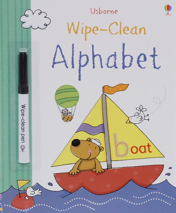 Usborne Wipe-Clean: Alphabet (+ фломастер)
