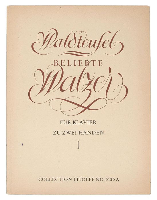 Beliebte Walzer fur klavier zu 2 handen. Band I