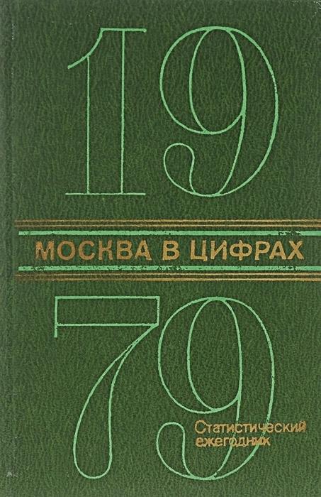 Москва в цифрах. 1979. Статистический ежегодник