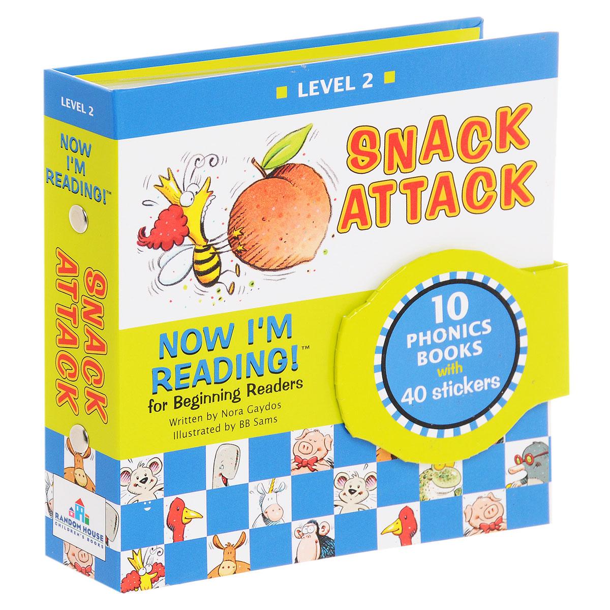 Now I'm Reading! Level 2: Snack Attack (комплект из 10 книг + наклейки)