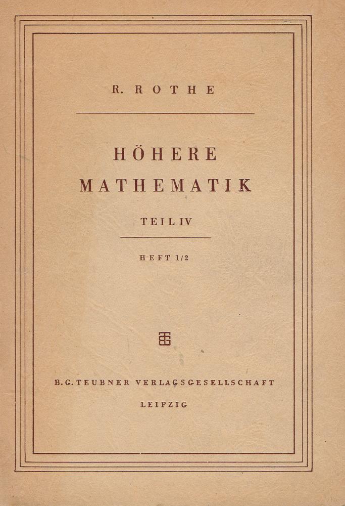 Hohere Mathematik Fur Mathematiker, Physiker, Ingenieure. Teil 4. Heft 1/2. Ubungsaufgaben mit Losungen zu Teil 1