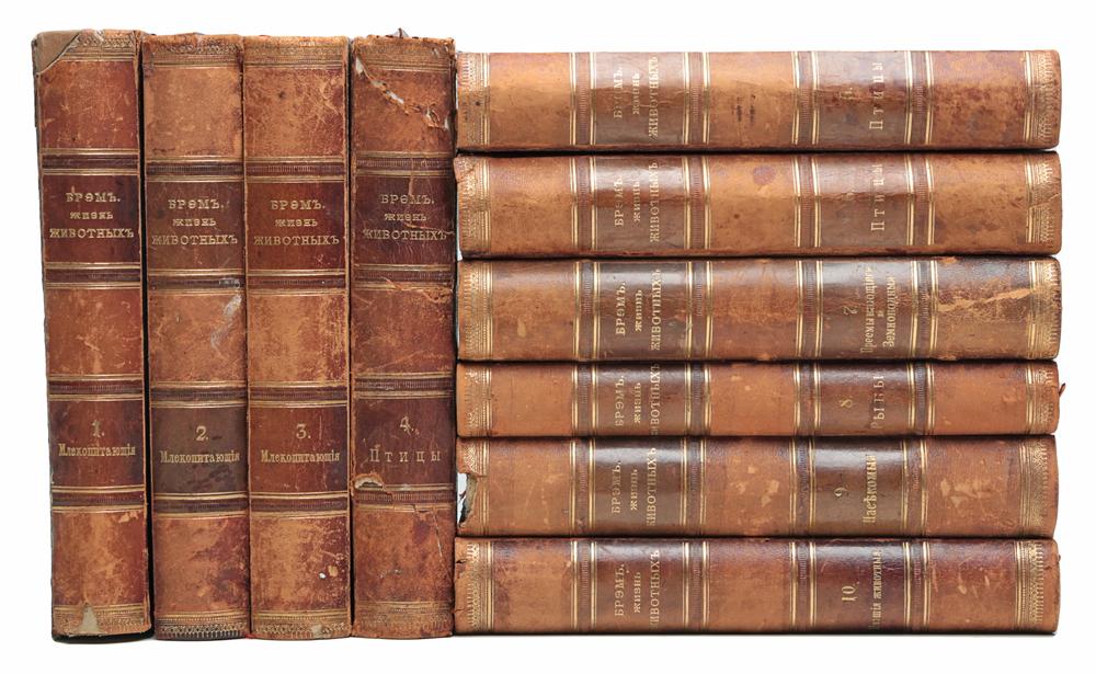 А. Э. Брэм. Жизнь животных. В 10 томах (комплект из 10 книг)